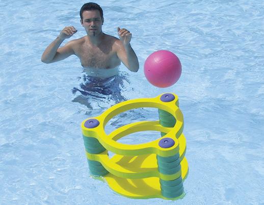 Panier de basket ball flottant for Piscine a balle mousse