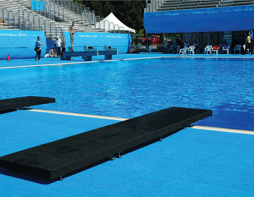 Diving training platform for Pool deck design tool